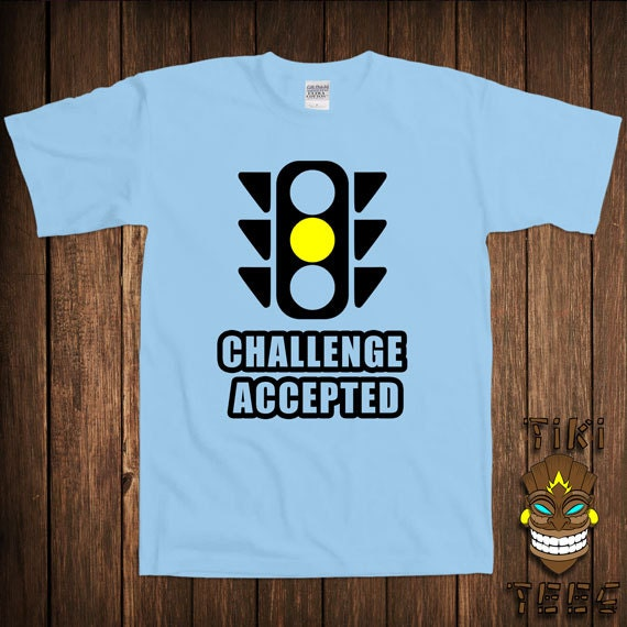 Funny Auto Car Racing T-shirt Challenge Accepted Tshirt Tee