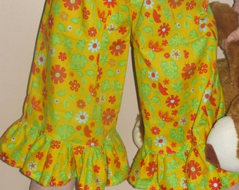 OOAK Pajama pants pajama shorts bloomers cotton pajama bottoms Girls pajamas Size 4-5