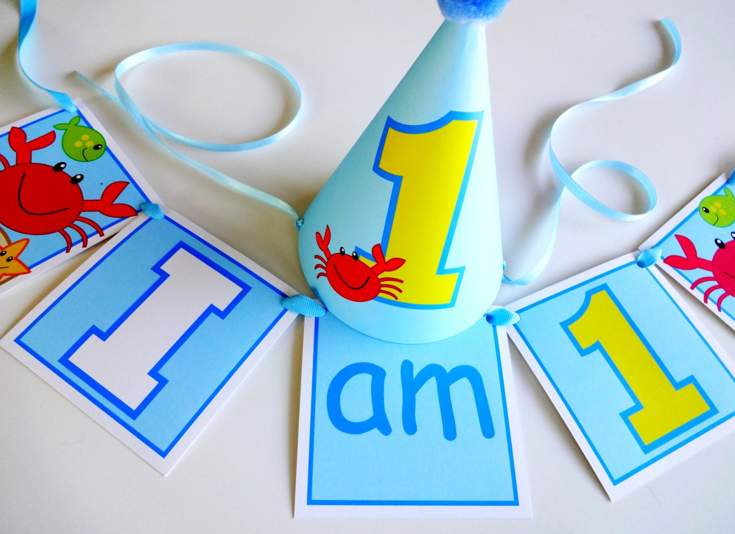 diy first birthday party hat high chair banner printable set