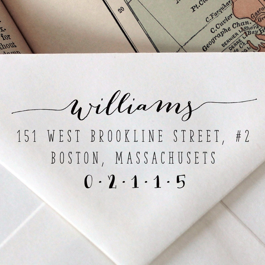 Custom Calligraphy Stamp Wedding Stationary By