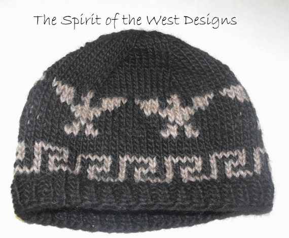Knitting Pattern Toque : Eagle Legends Hat Knitting Pattern knit hat Toque Beanie Adult