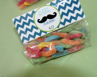 Moustache Treat Bags