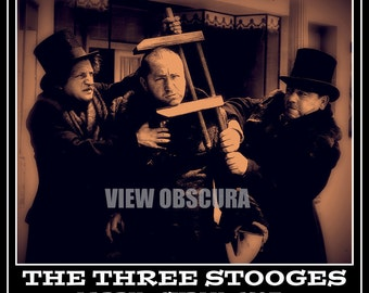 All the World's a Stooge - The Three Stooges - Moe, Larry, and Curly - Limited Edition Signed and Numbered Print