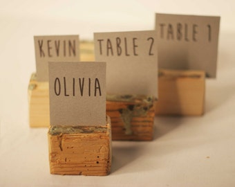 Rustic place card holders, 100 pieces Wedding card holders, name card holders,Rustic wedding table number holder, wooden card holders