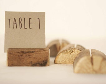 70 pieces rustic place card holders, Wedding card holders, name card holders, rustic naturally aged tree holder, wedding table number holder
