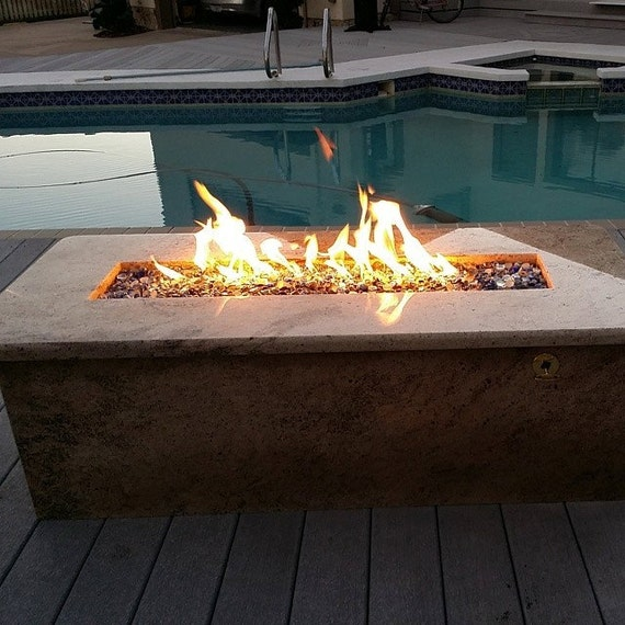 diy network propane pit items similar to d i y 26 quot propane trough wall table burner pit kit in