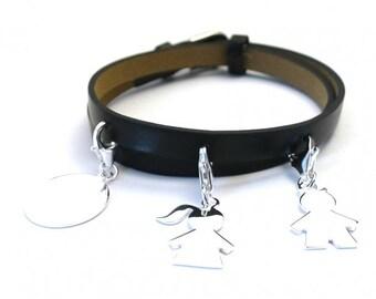 Custom bracelet silver medal