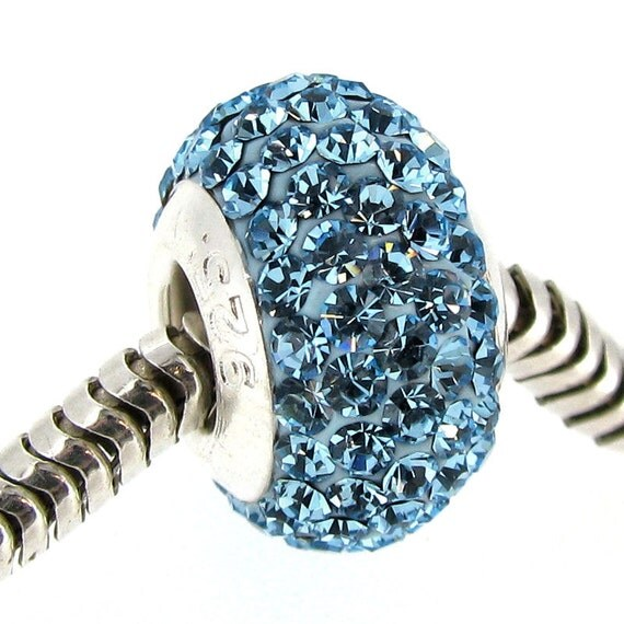 Pandora December Birthstone Earrings: 925 Sterling Silver December ROUND BIRTHSTONE Blue Ziron