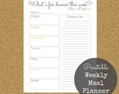 Weekly Meal Planner Printable