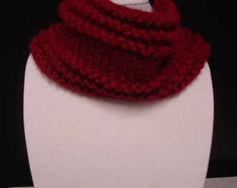 Toasty And Warm Cowl in Cranberry