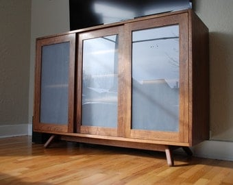The ENTERTAINER - Walnut Entertainment Center