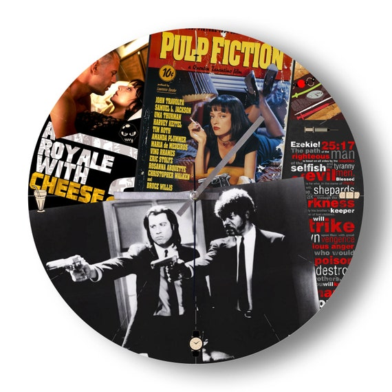 Wall Clock Pulp Fiction Collage Clock Home Decoration By