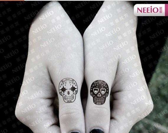 The dark mage skull temporary tattoos finger by coolfashion4u for Temporary finger tattoos