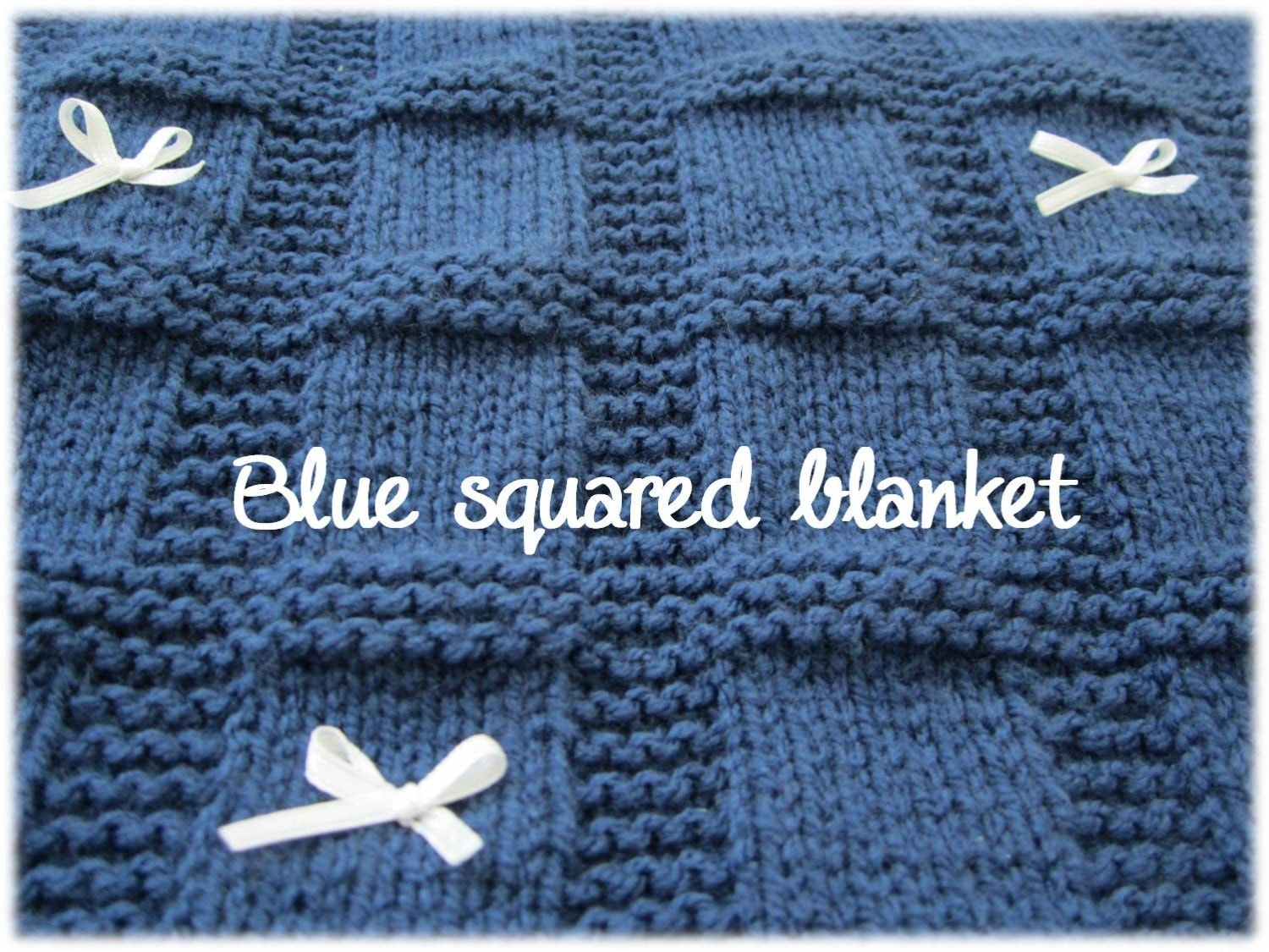 Square Block Baby Blanket Pattern PDF Square Knitting