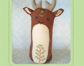 Darryl Deer plush PDF sewing pattern felt animal patterns ornaments