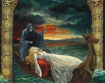Death Tarot Goddess Celtic 5x7 Blank Greeting Card