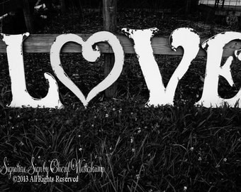LARGE WOODEN LETTERS | Wooden Wedding Letters | Wedding Guest Book Idea | Wedding Decor | Spell Your Favorite Word | Distressed Letters