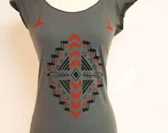 Navajo inspired pattern on Asphalt Scoop