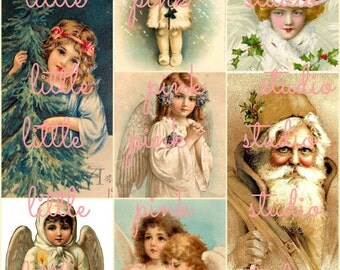 A Very Merry Christmas, DIGITAL Collage Sheet, instant download, printable