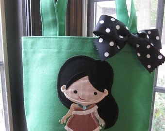 TOTE BAG Disney Princess Pocahontas Personalized Toddler or Big Kid Tote