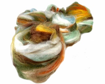 "fiber art batt, PHAT FIBER, August 2013, ENTOMOLOGY, fiber art batt for felting or spinning, ""Suriname"""