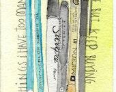 Pens and Pencils Postcard Set of 4