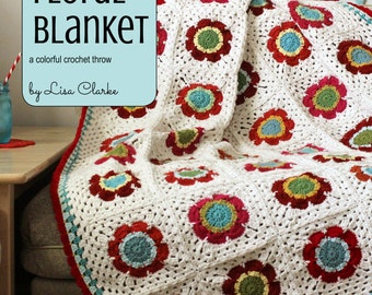 Mod Floral Blanket Crochet Pattern and Tutorial