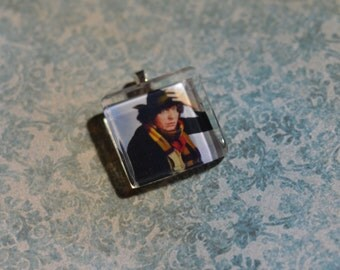 Doctor Who glass tile pendant 4th Doctor Tom Baker