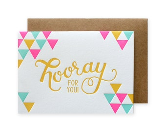 Hooray Letterpress Card