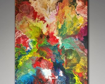 Giclee Print on Canvas from my original abstract painting, ANCIENT WISDOM, 30x40 inches, inspirational art