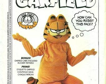 Simplicity 9387 GARFIELD Costume Vintage 1980s Child Size 3 - 6 UNCUT