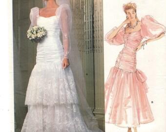 Vogue 1826 VOGUE BRIDAL ORIGINAL Size 10 circa 1986