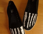 RESERVED Skeleton Shoes - women's size 7