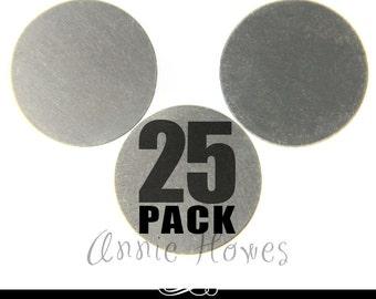 """Nickel Silver 1.25"""" Circle  Blanks. 25 Pack. 24ga MET-600."""