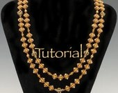 Beaded Milady Necklace Pattern with Seed Beads, SuperDuos, and Tilas Instant Digital Download