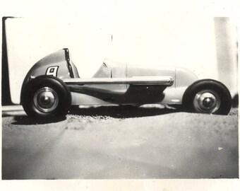 vintage photo Race Car Midget No. 9 Model 1940