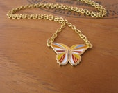 Gold Butterfly Charm Necklace Vintage by Alice Wears Gold