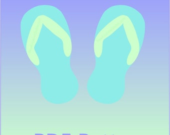 Flip Flops Applique PDF Pattern - Quilt Block  - Sewing - Crafts - Summer Fun Beach Park - Instant Download Shoes