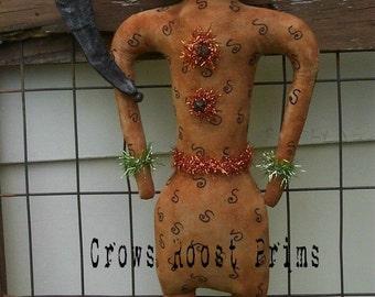Primitive Halloween PUMPkin Party doll Crows Roost Prims 133e epattern immediate download