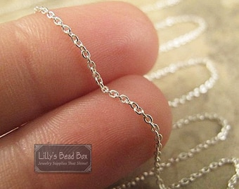 Tiny Silver Chain, Sterling Silver Filled Woven Cable Chain, 10 Feet, Fine, Delicate Necklace Chain for Jewelry (FS sf/130/30f)