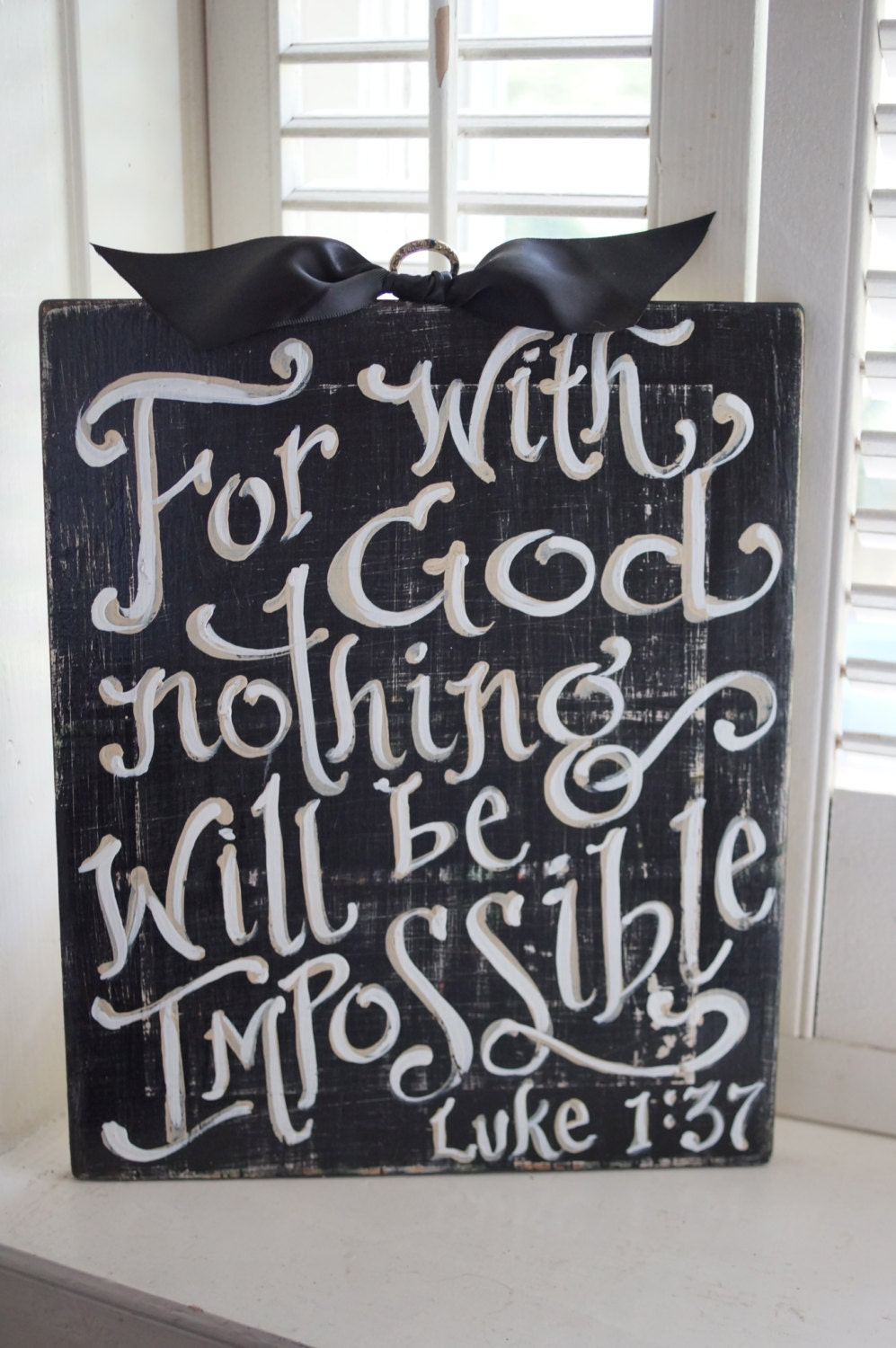 Room With Nothing In It: Nothing Is Impossible Sign Dorm Room Encouragement Custom
