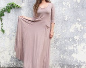 ORGANIC Perfect Pockets Long Dress - ( light hemp andorganic cotton knit ) - organic hemp dress