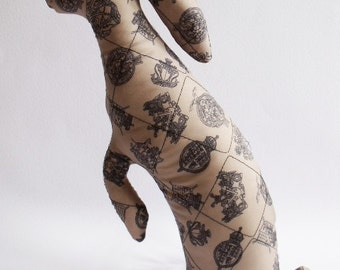 Baby Hare Fergus real size hare Soft Sculpture hare plush fabric bunny rabbit ornament pillow mink black sable diamonds