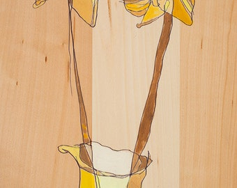 Two Daffs Canvas Print by Jennifer Mercede 24X12