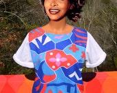 vintage 70s OP ART short sleeve sweatshirt tee shirt flashdance Medium Large women