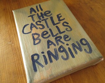 All the Castle Bells Are Ringing  - Small Word Art Typography word painting - NayArts