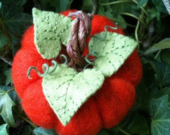 Felted Pumpkin Pincushion