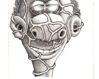 """BASIL WOLVERTON """"BARFLIZE"""" # 11 ~ Genuine Hand Crafted / Pulled Limited Edition Fine Art Print Etching Signed and Numbered."""