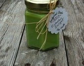 Pistachio Delight  Soy Candle 6 Ounce Hexagon Jar - SandyLandStudio
