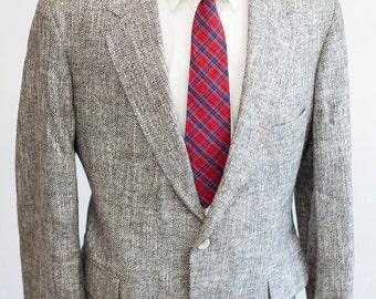 Men's Blazer / Vintage Grey Twill Jaceket / Size 46 XL